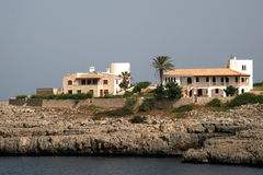 Villa in cala marsal. Two cottages on mallorca Royalty Free Stock Image