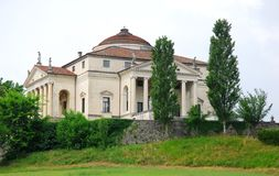 Villa called the round of Andrea Palladio is located near Vicenza in Veneto (Italy) Stock Photos