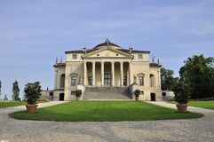 Villa Capra la Rotonda in Vicenza. Villa La Rotonda is a Renaissance villa just outside Vicenza, northern Italy, designed by Andrea Palladio. The proper name is Royalty Free Stock Photography