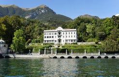 Villa Carlota i Tremezzo, Como sjö arkivbild