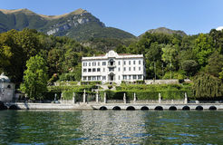 Villa Carlota in Tremezzo, Como Lake stock photography