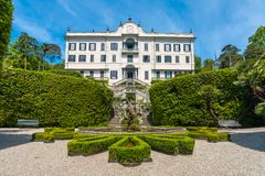 Villa Carlotta Tremezzo op meer Como Italië royalty-vrije stock afbeelding