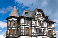 Villa Cassel in the Swiss alps stock photos