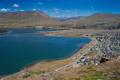 Villa Caviahue, Neuquen, Argentina. View of the town of Caviahue in the province of Neuquen, Argentina Stock Images