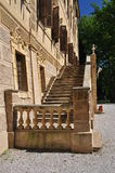 Villa Cavour, Santena, Italy. Outer staircase. Royalty Free Stock Photo