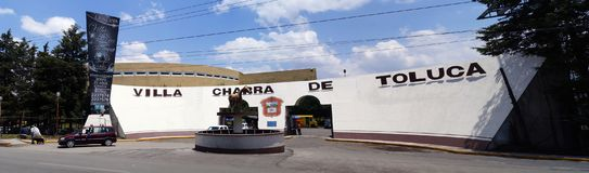 Villa Charra of toluca. A big plaza in Toluca mexico, horse riding site in mexico, know as the villa charra, main face of a famous horse riding plaza, place used royalty free stock photography