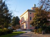 Villa Ciani binnen de botanische tuin stock afbeelding