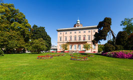 Villa Ciani in the botanical garden of the city of Lugano Stock Image