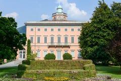 Villa Ciani op botanisch park van Lugano royalty-vrije stock afbeelding