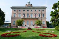 Villa Ciani op botanisch park van Lugano stock afbeelding
