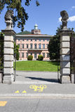 Villa Ciani op botanisch park van Lugano stock afbeeldingen