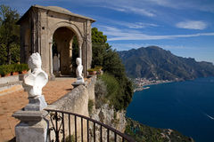 Villa Cimbrone. Look from the terrace of the infinity on the Amalfiküste Royalty Free Stock Image