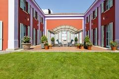 villa in classic style, patio Stock Image