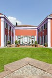 Villa in classic style, view from the garden Stock Photography
