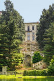 Villa Clerici op Naviglio Grande (Milaan) royalty-vrije stock fotografie