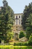 Villa Clerici sul Naviglio gran (Milano) fotografia stock libera da diritti