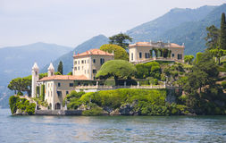 Villa on Como's Lake. The Villa del Balbianello on Lake Como, Italy royalty free stock images