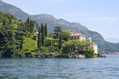 Villa on Como's Lake Stock Photo