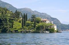 Villa on Como's Lake. The Villa del Balbianello on Lake Como, Italy stock photo