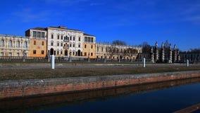 Villa Contarini en stor barock stilvilla som byggs i Veneto Italien I stock video