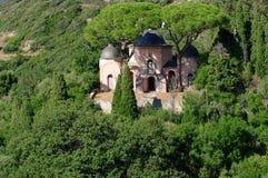 Villa in corsica cape Stock Image