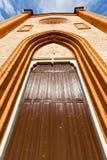 Villa cortese italy   church   rose window Royalty Free Stock Image
