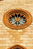 Villa cortese italy   church  varese  the old   rose window Stock Photos