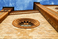 villa cortese italy   church  varese   unny daY rose window Stock Photography