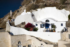 Villa cyclades architecture oia santorini Royalty Free Stock Images