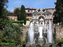 Villa d'Este. Garden of Villa d'Este in Italy Stock Photography