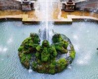 Villa D 'Este en ovanlig springbrunnträdgård arkivfoton