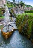 Villa d`Este fountain and garden , Tivoli, Stock Images