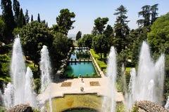 Villa d'Este fountain, Tivoli, Italy Royalty Free Stock Photography