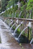 Villa d Este, la strada cento fontane Fotografia Stock