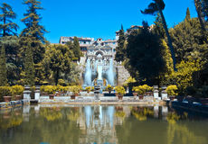 Villa d'Este - The Organ Fountain Stock Photos