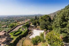 Villa d'este park in Tivoli, Lazio, Italy Stock Photo