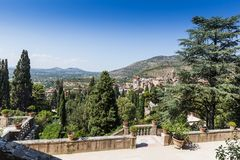 Villa d'este park in Tivoli, Lazio, Italy Stock Photos
