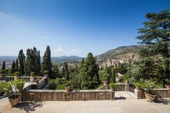 Villa d'este park in Tivoli, Lazio, Italy Royalty Free Stock Photo