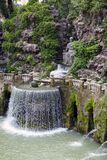 Villa d`Este16th-century fountain and garden , Tivoli, Italy. UNESCO world heritage site.  stock photography