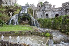 Villa d`Este16th-century fountain and garden , Tivoli, Italy. UNESCO world heritage site.  royalty free stock photography