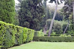 Villa d`Este16th-century garden , Tivoli, Italy. UNESCO world heritage site.  stock photo
