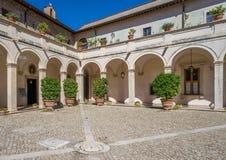 Courtyard in Villa d`Este, Tivoli, Lazio, central Italy. The Villa d`Este is a 16th-century villa in Tivoli, near Rome, famous for its terraced hillside Italian Stock Photography