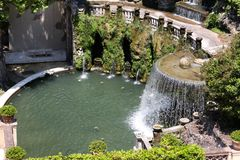 Villa d'Este in Tivoli Royalty Free Stock Photography