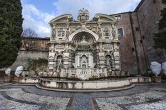 Villa D Este, Tivoli för organspringbrunn (den Fontana dellen Organo) italy royaltyfri bild