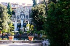 Villa d`Este in Tivoli Stock Image