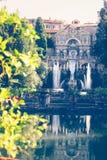 Villa d`Este in Tivoli Stock Photos