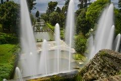Villa D este in tivoli, Italië, Europa stock afbeelding