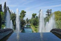 Villa d'Este in Tivoli, Italy royalty free stock photography