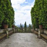 Villa D `Este, Tivoli, Italy. Balcony of the garden Stock Photography