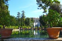 Villa d'Este in Tivoli, Italy, Europe royalty free stock photo